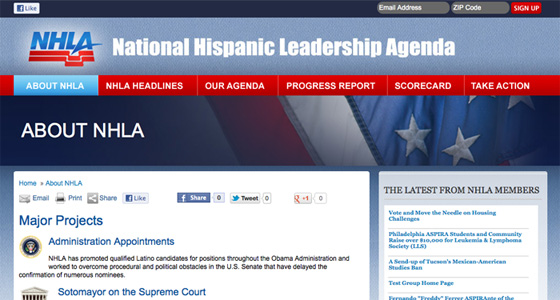 National Hispanic Leadership Agenda
