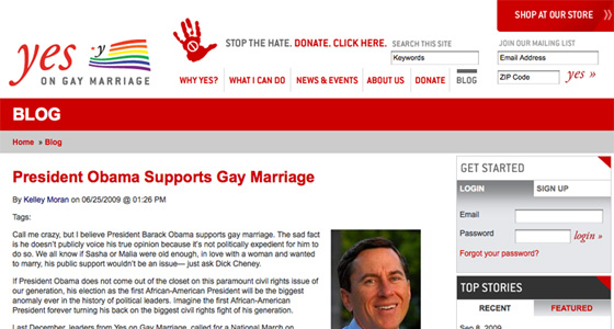Yes on Gay Marriage